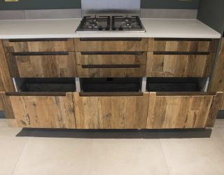 kitchen wooden furniture. The Handles We Routed Into Kitchen Doors And Drawer Fronts, With Acid Etched Lacquered Steel Back Plates. This Creates An Industrial Wooden Furniture U